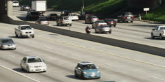 Traffic on Highway 134 to Pasadena, looking east from North Louise Street Stock Footage