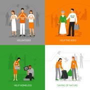 Volunteers design concept Stock Illustration