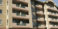 Five-story apartment building in Glendale, California Stock Footage