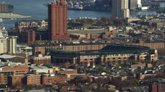 Past Baltimore Orioles Stadium in Baltimore, MarylandShot in November 2011. Stock Footage