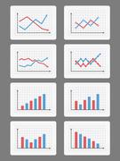 Graphs and Charts Stock Illustration
