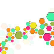 Color molecular structure - stock illustration