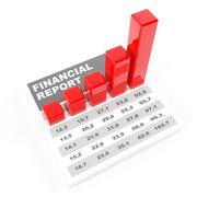 Financial report, 3d render Stock Illustration