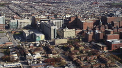 Past Johns Hopkins University in Baltimore, Maryland. Shot in November 2011. Stock Footage