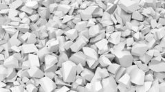 White pebbles pile abstract background. - stock illustration