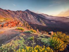 Mount Etna, Sicily, Italy. - stock photo