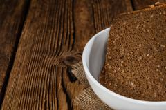 Slices of  Brown Bread - stock photo