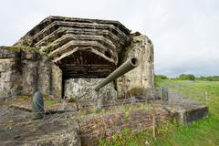 Crisbecq fortified position that defended Utah Beach, Normandy, France Stock Photos