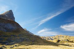 Landscape in the Aneou, Ossau Valley, Pyrenees National Park, Pyrenees, France. Stock Photos