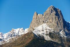Foratata Peak in Tena Valley, Aragon, Huesca, Spain. Stock Photos