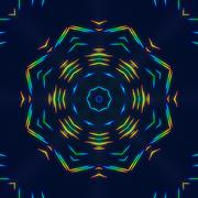 Digital Kaleidoscope with a Spectrum of Colors - stock illustration