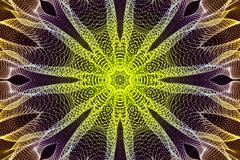 Form Background Kaleida Starfish-Yellow - stock illustration