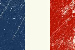 French Flag vintage Stock Illustration