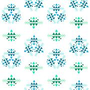 Colorful ethnic seamless pattern design - stock illustration