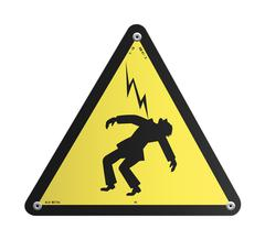 Danger High Voltage panel - stock illustration