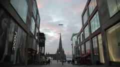 Parish Church of St Martin-in-the-Bull-Ring, Birmingham - stock footage