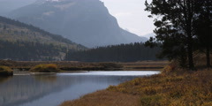 Autumn at Green River Valley in Wyoming Stock Footage