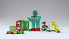 Kids, Toy, Children contents and object toy, Entertainment contents. Stock Footage