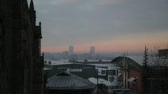 Birmingham Skyline at Sunrise Stock Footage