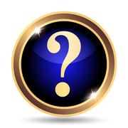Stock Illustration of Question mark icon. Internet button on white background..