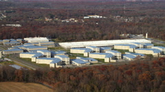 Wide view of South Woods Correctional Facility near Bridgeton, New Jersey. Shot Stock Footage