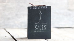 SALES word and arrow - stock footage