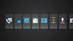 Phone icon for mobile application contents. function for smart device. - stock footage