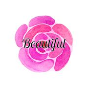 Watercolor flowers and beautiful vector set - stock illustration