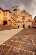 Assisi Cathedral - stock photo