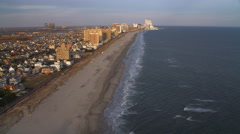 Aerial approach to Atlantic City from Ventnor City Pier. Shot in 2011. Stock Footage