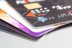 Credit cards. Business background - stock photo