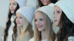 Five young, beautiful girls l Stock Footage