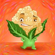 Hello my name is cauliflower Stock Illustration