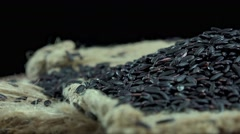 Black Rice (not loopable 4K footage) Stock Footage