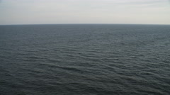 Over open ocean off the New Jersey coast. Shot in November 2011. - stock footage