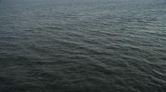 Over open ocean off the New Jersey coast. No horizon. Shot in November 2011. - stock footage