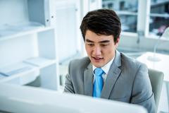 Portrait of asian businessman - stock photo