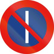 Road sign used in Spain - Parking prohibited on odd days - stock illustration