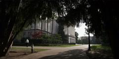 Walkways around the California State Capitol Building, Sacramento - stock footage