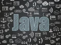 Programming concept: Java on School Board background Stock Illustration