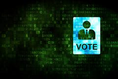 Stock Illustration of Politics concept: Ballot on digital background