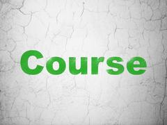 Stock Illustration of Studying concept: Course on wall background