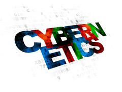 Science concept: Cybernetics on Digital background - stock illustration