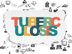 Health concept: Tuberculosis on Torn Paper background Piirros