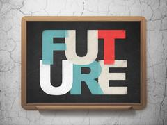 Timeline concept: Future on School Board background Stock Illustration