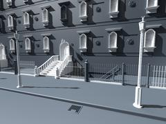 3d model of Fancy New York City Building Facade NO texture
