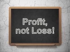 Stock Illustration of Business concept: Profit, Not Loss! on chalkboard background