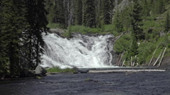 Lewis Falls waterfall Yellowstone National Park HD Stock Footage