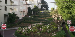 People walking on Lombard Street in San Francisco, California Stock Footage