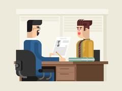 Job interview flat design Stock Illustration
